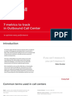 7 Metrics to Track in Outbound Call Center
