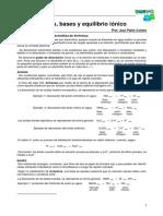 Cap 7 - Ácido-Base. Eq. Iónico - Mat. Teórico - Prof. Colotta