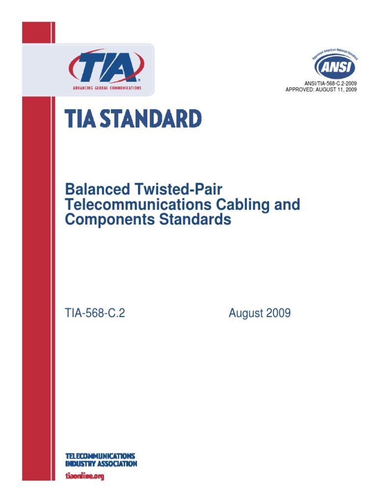 tia 568 c 2 pdf intellectual property electrical connector rh scribd com EIA TIA 568 Commercial Building EIA TIA 568 Standard PDF