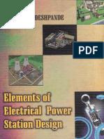 Elements of Electrical Power Station Design-M.v Deshpande