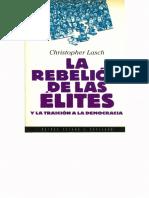 Lasch, Christopher - La Rebelión de Las Élites