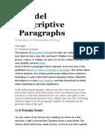 5 Model Descriptive Paragraphs.doc