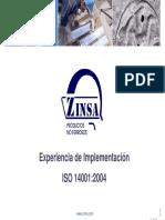 Zinsa Implemetación 14001