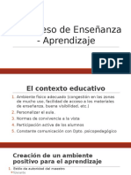 El Proceso de Enseñanza - Aprendizaje