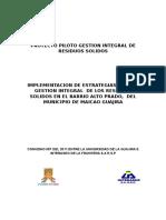 Proyecto Piloto Gestion Integral de Residuos Solidos