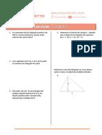 Exercícios de Geometria Plana - Professor Ferreto