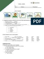 Pre Intermediate 1 Final Exam