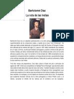 Bartolome Diaz y La Ruta de Las Indias