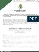 Reglamento Proteccion Conservacion Arbolado