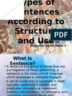 Types of Sentences According To