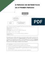 Parcelador Matematicas 9º i Periodo 2017