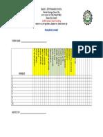 Checklist of Goal
