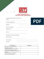Blanko Surat Rekomendasi Calon Pendaftar MITI KM 2017