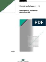 Les dispositifs différentiels résiduels en BT