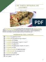 Receita de Torta Integral de Legumes