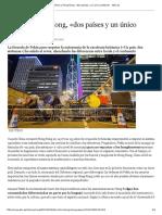 China y Hong Kong, «Dos Países y Un Único Sistema» - ABC