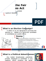 Fair Elections Act Ppt