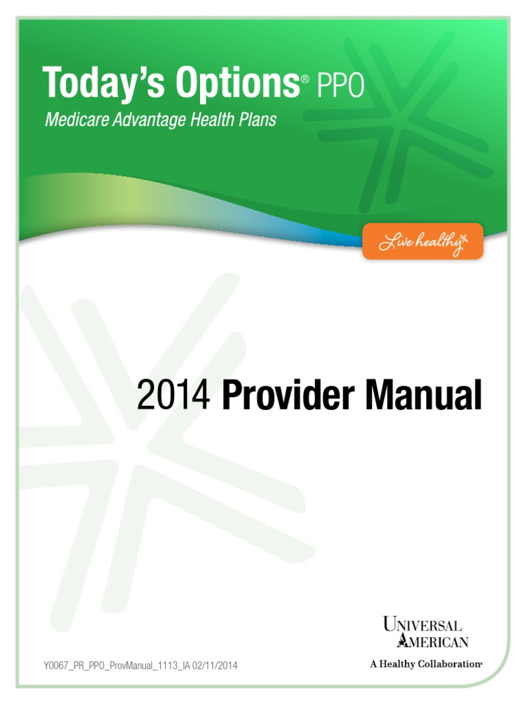 To PPO-2014 ProviderManual   Medicare (United States)   Patient