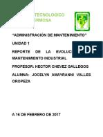 REPORTE DE LA EVOLUCION DEL MANTENIMIENTO INDUSTRIAL.docx