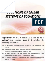 Lesson 2 - Solutions of Linear Systems of Equations