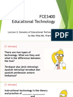 Lecture 2 Domains of Educational Technology