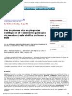 Revista Medica Herediana - Uso de Plasma Rico en Plaquetas Autólogo en El Tratamiento Quirúrgico de Pseudoartrosis Atrófica de Fémur y Tibia