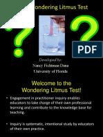 Week 3 Wondering Litmus Test