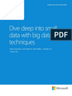 Dive Dee Into Small Data With Big Data Techniques - Microsoft-State of Indiana