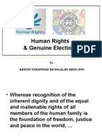 Human Rights and Genuine Elections Module
