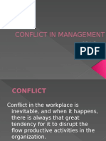 Conflict of Management
