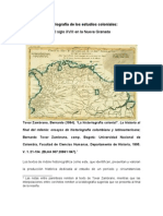 La historiografía sobre el período colonial de la historia colombiana - reseña