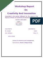 A Workshop Report Front Pg 1