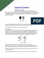 Mengenal Komponen Transistor