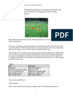 Native Species Establishment Strategy Using Permaculture Design Principles