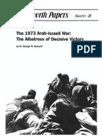 The1973 Arab-Israeli War - George W Gawrych