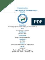 TAREA I- Tecnología de La Información  y Comunicación 1
