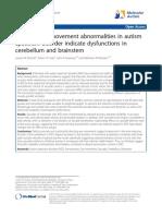 Saccadic Eye Movement Abnormalities in Autism