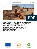 Consolidated Gender Analysis for the Ethiopian Drought Response