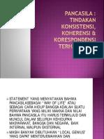 1 Pancasila Tindakan Konsisten, Koherensi & Korespondensi