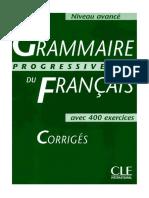 Grammaire Progressive AVANCE Corriges.djvu