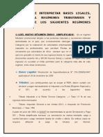 Analizar e Interpretar Bases Legales de Regímenes Tributarios.