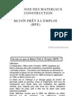 Béton Prêt à l'Emploi (BPE)
