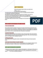 Tips to Summary Writing