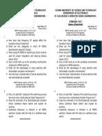 Question Paper _ Rf MEMS