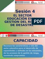 PPT4 El Sector Educativo en La GRD - Celendín