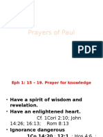 Paul's Prayer Class 8