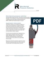 SOR Pressure Switch