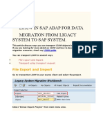 LSMW SAP with ABAP Logic
