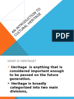 An Introduction to Cultural Heritage