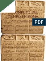 El Computo Del Tiempo en Roma